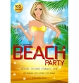 Night club beach party poster vector image