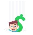Non returnable big debts vector image