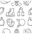 object sport equipment doodles vector image