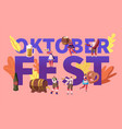 oktoberfest concept tiny characters in german vector image vector image