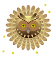 Owl head with feathers vector image vector image