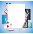 paper medicine vector image vector image