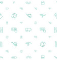 push icons pattern seamless white background vector image vector image