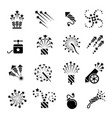 pyrotechnic black icons vector image vector image