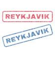 reykjavik textile stamps vector image vector image