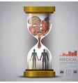 Sandglass Health And Medical Human Organ vector image vector image