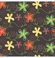 Seamless pattern of hand drawn summer flowers on a vector image vector image