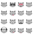 set funny cats vector image vector image