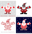 Set of Colorful Santa Claus cards for your design vector image