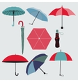 Set of different umbrellas vector image