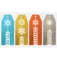 set of golden color glittering labels with vector image