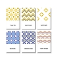 Set of posters doodle paisley for your business vector image vector image