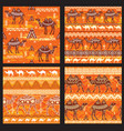 set of seamless pattern with camels vector image vector image