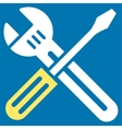 Spanner And Screwdriver Icon vector image vector image