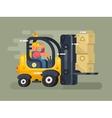 Storekeeper loader flat design vector image vector image