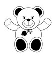 teddy bear toy icon image vector image vector image