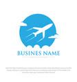 travel logo designs vector image vector image