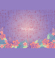 tropical flowers garden on purple background vector image