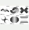 universal halftone geometric shapes for design vector image vector image