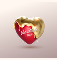 valentines day realistic 3d heart vector image vector image