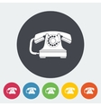 Vintage phone icon vector image