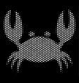 white dot crab icon vector image