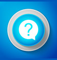 white question mark in circle icon hazard warning vector image vector image