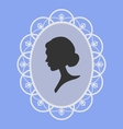 Woman portrait silhouette vector | Price: 1 Credit (USD $1)