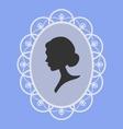 woman portrait silhouette vector image vector image