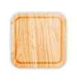 Wooden Cutting Board With Groove vector image