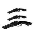 black pistol on white vector image