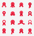 Red rosette icons vector image