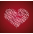Abstract heart icon wave lines vector image