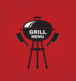 Cafe menu grill template design vector image
