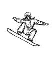 sketch snowboarder sketch hand vector image