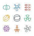 9 physics icons vector image vector image