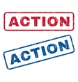 Action Rubber Stamps vector image vector image