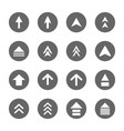 arrow design sign icons set vector image vector image