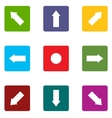 Arrow icons set vector image
