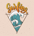big wave surfing vector image vector image