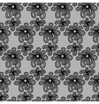 Black seamless flower lace pattern vector image vector image
