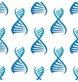 Blue DNA seamless pattern vector image vector image