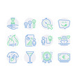 business icons set included icon as martini glass vector image vector image