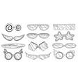 cartoon eyeglasses or sunglasses in stylish vector image