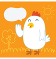 Chicken Balloon talk vector image vector image