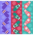 Christmas pattern with mittens vector image vector image
