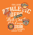 college athletic department kids league vector image vector image