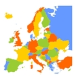 Colorful blank map of Europe vector image vector image