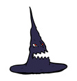 comic cartoon spooky witches hat vector image vector image