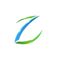 creative initial z letter logo design vector image vector image